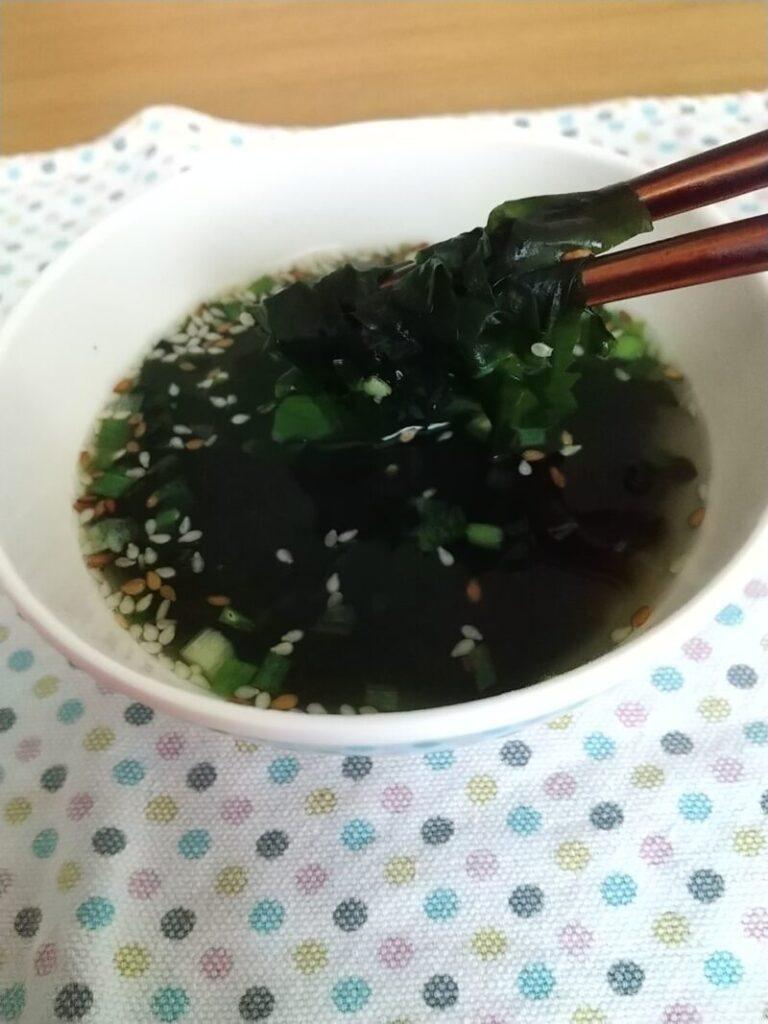 トップバリュわかめスープ 完成